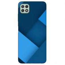 """TPU dėklas unikaliu dizainu 1.0 mm """"u-case Airskin Blue design"""" Samsung Galaxy A22 5G telefonui"""