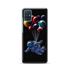 """TPU dėklas unikaliu dizainu 1.0 mm """"u-case Airskin Cosmo design"""" Samsung Galaxy A41 telefonui"""