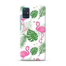 "TPU dėklas unikaliu dizainu 1.0 mm ""u-case Airskin Flamingos design"" Samsung Galaxy A71 telefonui"