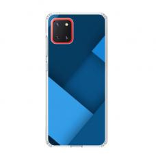 """TPU dėklas unikaliu dizainu 1.0 mm """"u-case Airskin Blue design"""" Samsung Galaxy Note 10 Lite telefonui"""