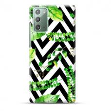 """TPU dėklas unikaliu dizainu 1.0 mm """"u-case Airskin Leaves 2 design"""" Samsung Galaxy Note 20 telefonui"""
