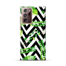 """TPU dėklas unikaliu dizainu 1.0 mm """"u-case Airskin Leaves 2 design"""" Samsung Galaxy Note 20 Ultra telefonui"""