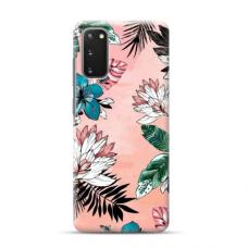 "TPU dėklas unikaliu dizainu 1.0 mm ""u-case Airskin Flowers 1 design"" Samsung Galaxy S20 FE telefonui"