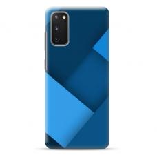 "TPU dėklas unikaliu dizainu 1.0 mm ""u-case Airskin Blue design"" Samsung Galaxy S20 FE telefonui"