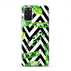 "TPU dėklas unikaliu dizainu 1.0 mm ""u-case Airskin Leaves 2 design"" Samsung Galaxy S20 Plus telefonui"