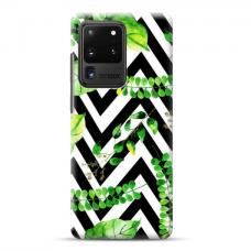 "TPU dėklas unikaliu dizainu 1.0 mm ""u-case Airskin Leaves 2 design"" Samsung Galaxy S20 Ultra telefonui"