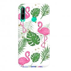 "TPU dėklas unikaliu dizainu 1.0 mm ""u-case Airskin Flamingos design"" Huawei P40 Lite E telefonui"