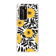 "TPU dėklas unikaliu dizainu 1.0 mm ""u-case Airskin Flowers 2 design"" Huawei P40 Pro telefonui"