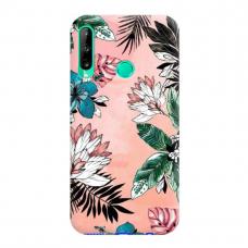 "TPU dėklas unikaliu dizainu 1.0 mm ""u-case Airskin Flowers 1 design"" Huawei P40 Lite E telefonui"