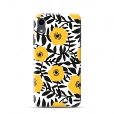 """TPU dėklas unikaliu dizainu 1.0 mm """"u-case Airskin Flowers 2 design"""" Iphone Xr telefonui"""