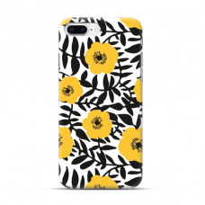 "TPU dėklas unikaliu dizainu 1.0 mm ""u-case Airskin Flowers 2 design"" Iphone 7 Plus / 8 Plus telefonui"