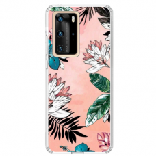"TPU dėklas unikaliu dizainu 1.0 mm ""u-case Airskin Flowers 1 design"" Huawei P40 Pro telefonui"