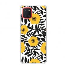 "TPU dėklas unikaliu dizainu 1.0 mm ""u-case Airskin Flowers 2 design"" Samsung Galaxy Note 10 Lite telefonui"