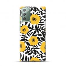 "TPU dėklas unikaliu dizainu 1.0 mm ""u-case Airskin Flowers 2 design"" Samsung Galaxy Note 20 telefonui"