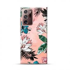 "TPU dėklas unikaliu dizainu 1.0 mm ""u-case Airskin Flowers 1 design"" Samsung Galaxy Note 20 Ultra telefonui"