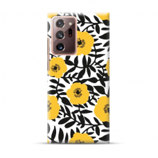 "TPU dėklas unikaliu dizainu 1.0 mm ""u-case Airskin Flowers 2 design"" Samsung Galaxy Note 20 Ultra telefonui"