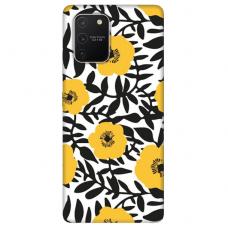 "Tpu Dėklas Unikaliu Dizainu 1.0 Mm ""U-Case Airskin Flowers 2 Design"" Samsung Galaxy S10 Lite Telefonui"
