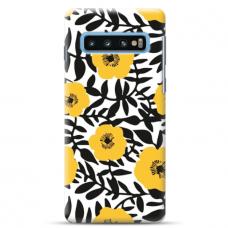 "Tpu Dėklas Unikaliu Dizainu 1.0 Mm ""U-Case Airskin Flowers 2 Design"" Samsung Galaxy S10 Telefonui"