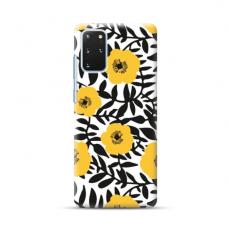 """TPU dėklas unikaliu dizainu 1.0 mm """"u-case Airskin Flowers 2 design"""" Samsung Galaxy S20 Plus telefonui"""