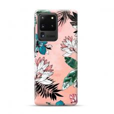 "TPU dėklas unikaliu dizainu 1.0 mm ""u-case Airskin Flowers 1 design"" Samsung Galaxy S20 Ultra telefonui"