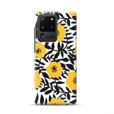 "TPU dėklas unikaliu dizainu 1.0 mm ""u-case Airskin Flowers 2 design"" Samsung Galaxy S20 Ultra telefonui"