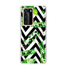 "TPU dėklas unikaliu dizainu 1.0 mm ""u-case Airskin Leaves 2 design"" Huawei P40 Pro telefonui"