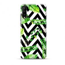 """TPU dėklas unikaliu dizainu 1.0 mm """"u-case Airskin Leaves 2 design"""" Samsung Galaxy A70 telefonui"""