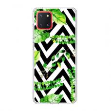 """TPU dėklas unikaliu dizainu 1.0 mm """"u-case Airskin Leaves 2 design"""" Samsung Galaxy Note 10 Lite telefonui"""