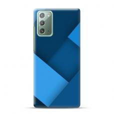 """TPU dėklas unikaliu dizainu 1.0 mm """"u-case Airskin Blue design"""" Samsung Galaxy Note 20 telefonui"""