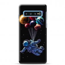 "Tpu Dėklas Unikaliu Dizainu 1.0 Mm ""U-Case Airskin Cosmo Design"" Samsung Galaxy S10 Telefonui"