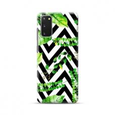 "TPU dėklas unikaliu dizainu 1.0 mm ""u-case Airskin Leaves 2 design"" Samsung Galaxy S20 FE telefonui"