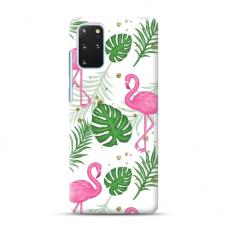 """TPU dėklas unikaliu dizainu 1.0 mm """"u-case Airskin Flamingos design"""" Samsung Galaxy S20 Plus telefonui"""