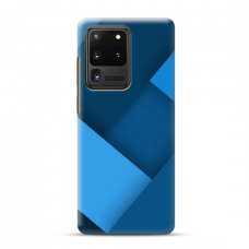 """TPU dėklas unikaliu dizainu 1.0 mm """"u-case Airskin Blue design"""" Samsung Galaxy S20 Ultra telefonui"""