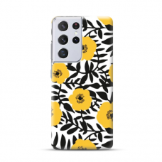 "TPU dėklas unikaliu dizainu 1.0 mm ""u-case Airskin Flowers 2 design"" Samsung Galaxy S21 Ultra telefonui"