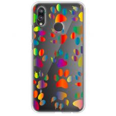 "Tpu Dėklas Unikaliu Dizainu 1.0 Mm ""U-Case Airskin Paw Design"" Huawei P Smart Z Telefonui"