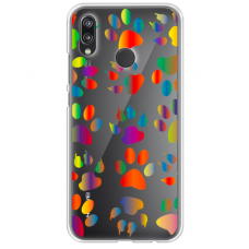 "Tpu Dėklas Unikaliu Dizainu 1.0 Mm ""U-Case Airskin Paw Design"" Huawei P20 Lite Telefonui"