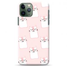 "Tpu Dėklas Unikaliu Dizainu 1.0 Mm ""U-Case Airskin Pink Kato Design"" Iphone 11 Pro Telefonui"