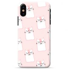 "Tpu Dėklas Unikaliu Dizainu 1.0 Mm ""U-Case Airskin Pink Kato Design"" Iphone Xs Max Telefonui"