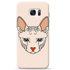"Tpu Dėklas Unikaliu Dizainu 1.0 Mm ""U-Case Airskin Kato Design"" Samsung Galaxy S7 Edge Telefonui"