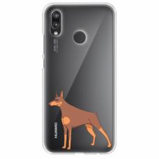 "Tpu Dėklas Unikaliu Dizainu 1.0 Mm ""U-Case Airskin Doggo 6 Design"" Huawei P Smart 2019 Telefonui"