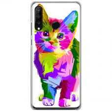 "Tpu Dėklas Unikaliu Dizainu 1.0 Mm ""U-Case Airskin Kitty Design"" Huawei P40 Lite E Telefonui"
