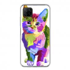 "Tpu Dėklas Unikaliu Dizainu 1.0 Mm ""U-Case Airskin Kitty Design"" Huawei P40 Lite Telefonui"