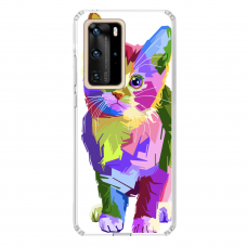 "Tpu Dėklas Unikaliu Dizainu 1.0 Mm ""U-Case Airskin Kitty Design"" Huawei P40 Pro Telefonui"