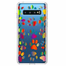 """Tpu Dėklas Unikaliu Dizainu 1.0 Mm """"U-Case Airskin Paw Design"""" Samsung Galaxy S10 Plus Telefonui"""