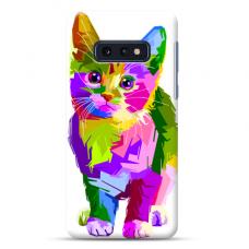 "Tpu Dėklas Unikaliu Dizainu 1.0 Mm ""U-Case Airskin Kitty Design"" Samsung Galaxy S10E Telefonui"