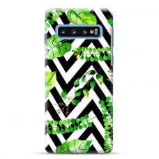 "Tpu Dėklas Unikaliu Dizainu 1.0 Mm ""U-Case Airskin Leaves 2 Design"" Samsung Galaxy S10 Telefonui"