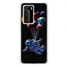 "TPU dėklas unikaliu dizainu 1.0 mm ""u-case Airskin Cosmo design"" Huawei P40 Pro telefonui"