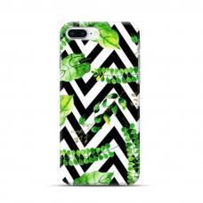 "TPU dėklas unikaliu dizainu 1.0 mm ""u-case Airskin Leaves 2 design"" Iphone 7 Plus / 8 Plus telefonui"
