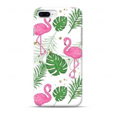 "TPU dėklas unikaliu dizainu 1.0 mm ""u-case Airskin Flamingos design"" Iphone 7 Plus / 8 Plus telefonui"