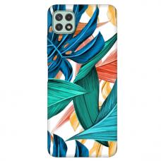"""TPU dėklas unikaliu dizainu 1.0 mm """"u-case Airskin Leaves 1 design"""" Samsung Galaxy A22 5G telefonui"""
